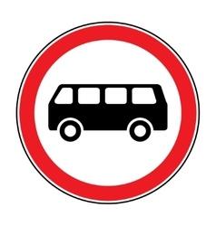 no bus sign vector image