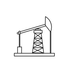 Oil pump machinery vector