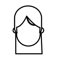 outlined head faceless girl image vector image