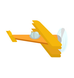 picture of an isolated yellow retro airplane with vector image vector image