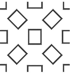 postal stamp seamless pattern on white background vector image