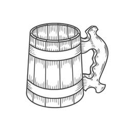 retro style beer mug vector image