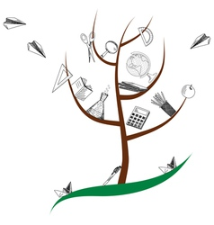 School tree vector