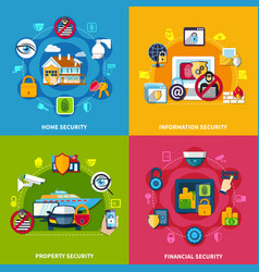 security concept icons set vector image