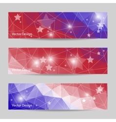 set horizontal banners vector image