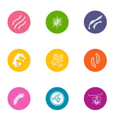 Sickness icons set flat style vector
