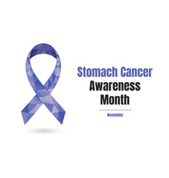 Stomach cancer awareness month concept vector
