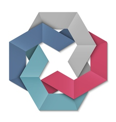 Stylized abstract origami element for design vector