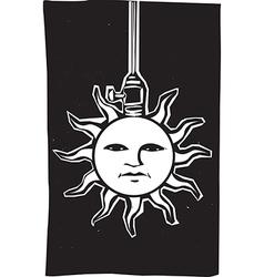 Sun Lamp vector image