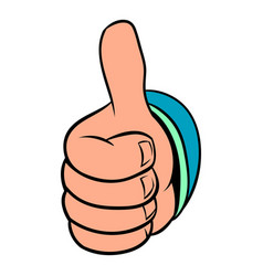 thumb up gesture icon cartoon vector image