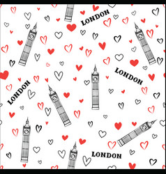travel london seamless pattern british vacation vector image