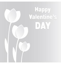 Tulips paper vector image