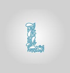 Water splash initial l letter logo icon vector