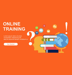 Web page designs for online training education vector