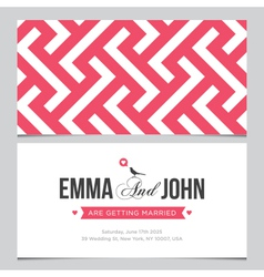 Wedding card pattern 02 vector