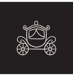 Wedding carriage sketch icon vector image