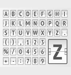 White terminal mechanical scoreboard regular vector