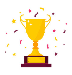 Winner prize goblet first place champion trophy vector