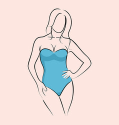 Woman in swimsuit vector