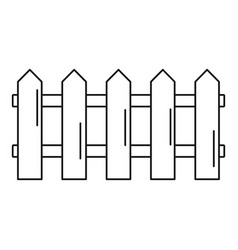 wood barrier icon outline style vector image