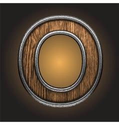 wooden figure vector image