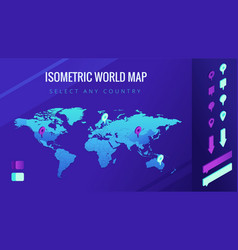 World map isometric vector