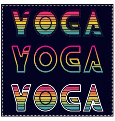 yoga t shirt design with different type color and vector image