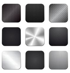 Apps metal-carbon icon set vector image vector image