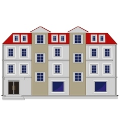 Big house with floor vector image