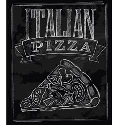 chalk pizza vector image