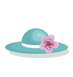 hat female fashion isolated icon vector image