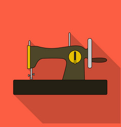 machine for fast sewing sewing or tailoring tools vector image