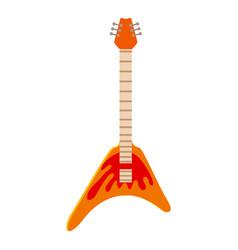 rock guitar icon cartoon style vector image