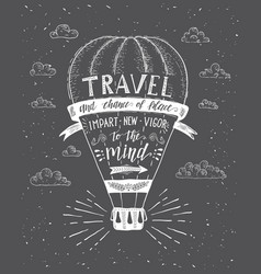 Travel of air balloon vector