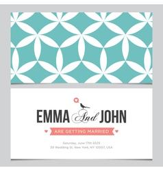 wedding card pattern 03 vector image vector image