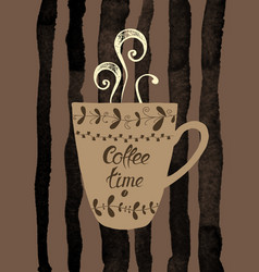 a cup of coffee vector image