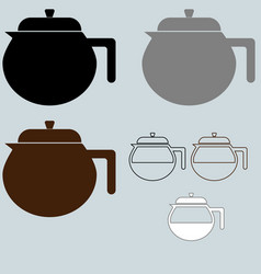 black coffee maker or container different vector image