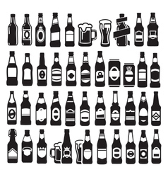 Beer bottles vector