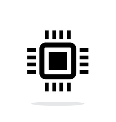 Mini CPU simple icon on white background vector image