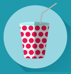 paper cup icon vector image