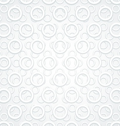 White Abstract Circles Retro background vector image vector image