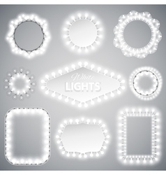 White Christmas Lights Frames vector image vector image