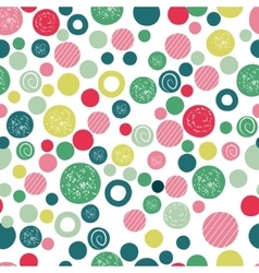 Cute kids background design with polka dot vector image vector image