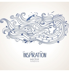 girl inspiration vector image vector image
