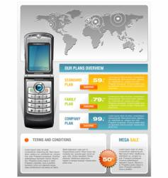 mobile phone ad template vector image