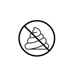 no shit line icon dont feces prohibition sign vector image