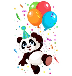 Panda and balloons vector