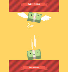 price ceiling and price floor vector image vector image