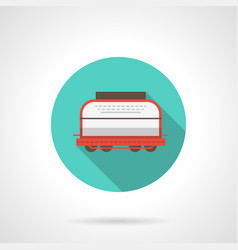 rail car blue round icon vector image vector image