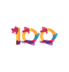 100 years anniversary celebration flux template vector